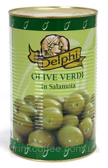Oливки крупные Delphi green olives, Греция, 4,5kg