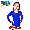 Купальник для художественной гимнастики, синий RS GM030056 (бифлекс, р-р 1-XL, рост 98-155см)