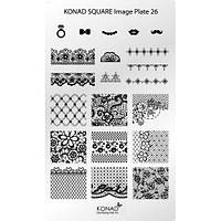 Мини пластина для стемпинга Konad Square Image Plate 26