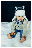 Зимова шапка і шарф для хлопчика бавовна