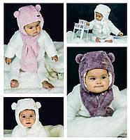 Набір зимовий шапка+шарфік для дівчаток, фото 1