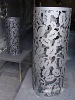 Декор дымохода - Декоративная сетка для камней (кожух на трубу банной печи Каменки)