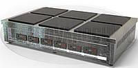 Индукционная Профессиональная Электроплита  - 18 кВт, 6 (шесть) конфорок, настольная, фото 1