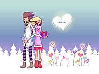 Печать съедобного фото - А4 - Вафельная бумага - День Св. Валентина №17