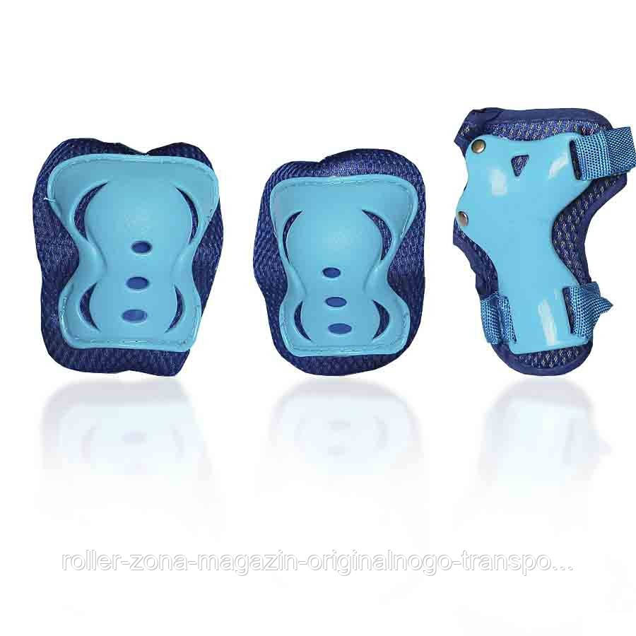 Защита для роликов детская G-FORCE BOY голубая