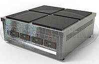 Профессиональная (индукционная) Электроплита  - 12 кВт, 4 (четыре) конфорки, настольная