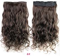 Трессы волнистые коричневый волосы на клипсах 60*25см