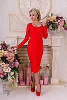 Трикотажное  женское красное платье  Альтера Modus  44-48 размеры