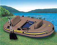 Гребная лодка INTEX 68319 NP (для отдыха на больших открытых водоёмах),резиновые лодки, надувные лодки, насосы