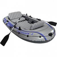 Надувная лодка Excursion 4 Set Intex,резиновые лодки, надувные лодки, насосы, весла, лодки РИБ