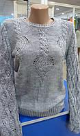 Женский серый свитер Турция