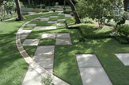 Принцип разметки дорожек в саду