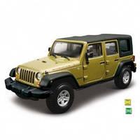 Автомодель - JEEP WRANGLER UNLIMITED RUBICON (ассорти зеленый металлик, зеленый, 1:32) от Bburago - под заказ