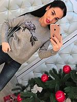 """Женский свитер """"Роза"""" DB-2643"""