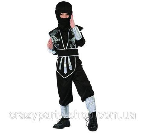 Карнавальный костюм Серебряный Ниндзя  110-120 см