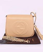 Женская сумка в стиле GUCCI SOHO CHAIN SHOULDER BIEGE BAG (3355), фото 1
