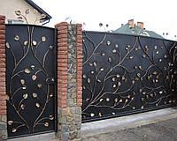 Откатные ворота из листового металла