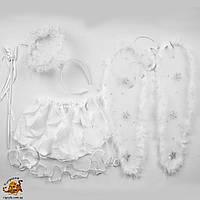 Костюм Ангела, карнавальный костюм Ангелочка - крылья, нимб, юбочка.