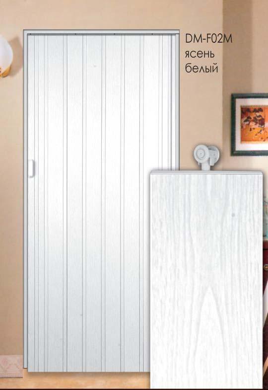 Дверь складная (ширма-гармошка) 86 x 203 (см) Глухая  Ясень белый, фото 1