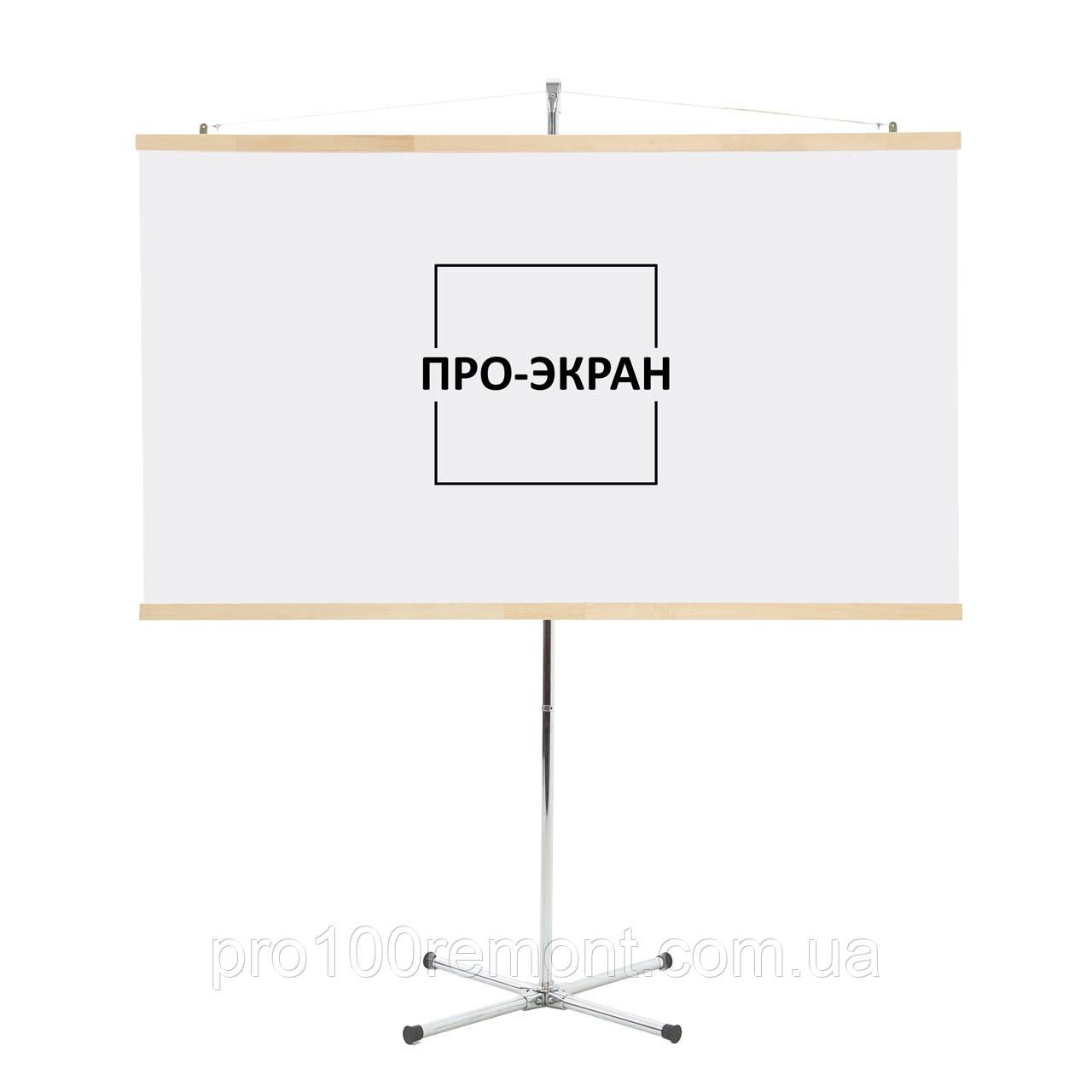 """Экран для проектора на штативе (треноге) 220 на 124 см, 100"""""""