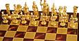 Шахматы в деревянном футляре Греко-Римские Manopoulos S11RED красный, фото 2