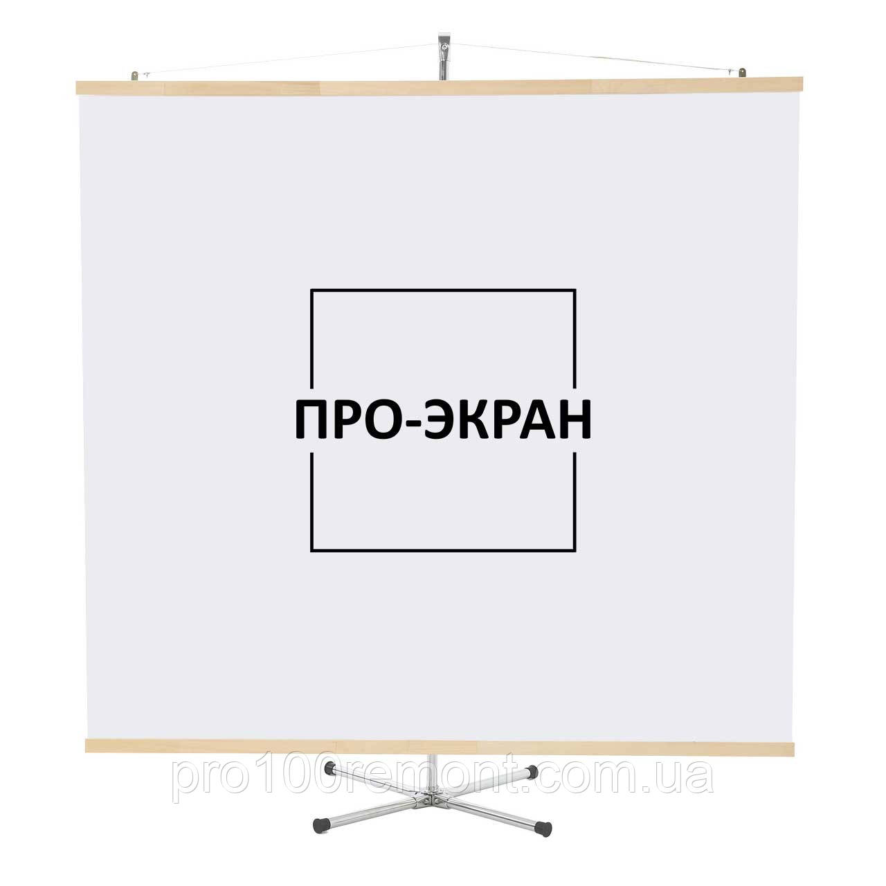"""Экран для проектора на штативе (треноге) 175 на 175 см, 97"""""""