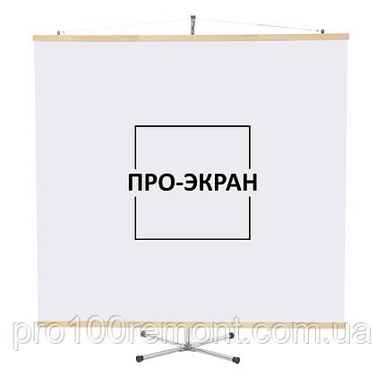 """Экран для проектора на штативе (треноге) 175 на 175 см, 97"""", фото 2"""