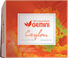 Черный чай Gemini Tea Collection Ceylon 100 пак.