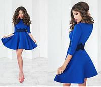 """Короткое платье с рукавом """"Лолита синее"""", фото 1"""