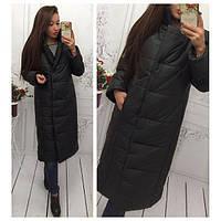 Куртка-пальто на синтепоне зимняя в цветах