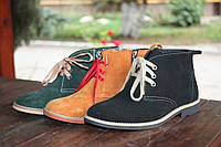 Черные замшевые весенние ботинки для мальчика на байке
