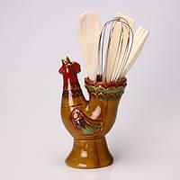 """Набор кухонных принадлежностей 4 предметов в подставке """"Петух"""" 180-717"""