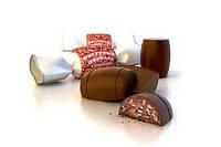 Шоколадные  конфеты Фигурный шоколад с кунжутом кондитерской фабрики Жако