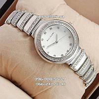 Часы Bvlgari slim crystal silver/white. Реплика, фото 1