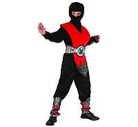 Карнавальный костюм Красный Ниндзя LUX 130-140 см