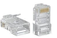 Коннектор RJ45 прозрачный (упаковка-1000шт.)
