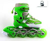 Ролики Skate Inline Light Green 29-33 34-37 38-42