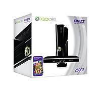 Игровая приставка Xbox 360 Slim 250Gb,Kinect, Игра Kinect Adventures прошивка LT+3.0, фото 1
