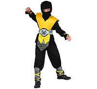 Карнавальный костюм Желтый Ниндзя LUX 120-130 см