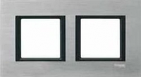 Рамка 2 поста серебристый алюминий Schneider Electric Unica Class