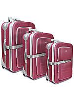 """Комплект чемоданов эконом класса фирмы """"CCS"""" Bordeaux 3в1 на 2-х колесах"""