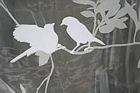 """Тюль с набивным рисунком """" птицы"""" для современного интерьера в стиле """"Модерн"""" Nerius 07 ."""