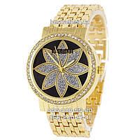 Часы женские Bvlgari Gold/Black (Кварц). Реплика