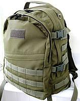 Тактический походный крепкий рюкзак с органайзером 40л олива. Армия, рыбалка, туризм, охота, спорт