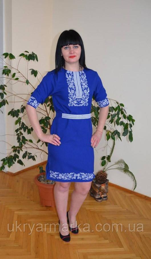 """Плаття вишиванка """"Мрія"""" електрик"""