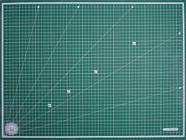 Коврик поверхность для резки двусторонний 3мм,60х45 см (А2), MornSun, Тайвань