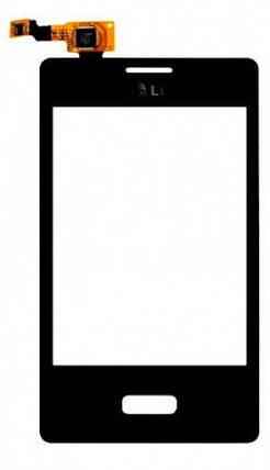Сенсор LG Optimus L3 E400 (оригинал), тач скрин для телефона смартфона, фото 2