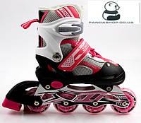 Ролики Раздвижные Розовые GS Sport Pink 29-33 34-37