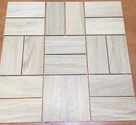 Мозаика деревянная из дуба, без покрытия № 1
