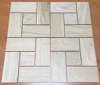 Мозаика деревянная из дуба, без покрытия № 2